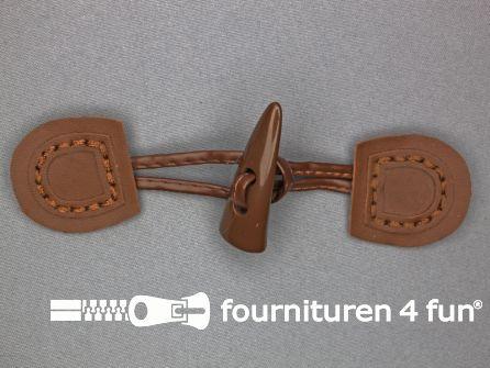 Skai houtje touwtje 50x150mm licht bruin