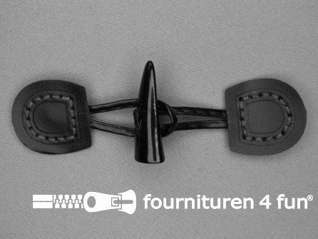 Skai houtje touwtje 50x150mm zwart