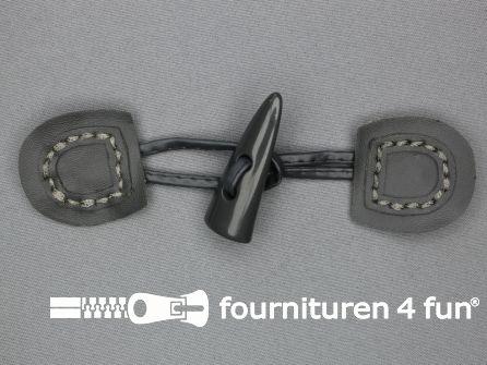 Skai houtje touwtje 50x150mm grijs