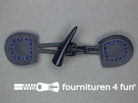 Skai houtje touwtje 50x150mm marine blauw