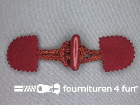 Canvas houtje touwtje 40x150mm bordeaux rood