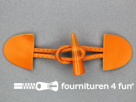 Kinder houtje touwtje 35x110mm oranje