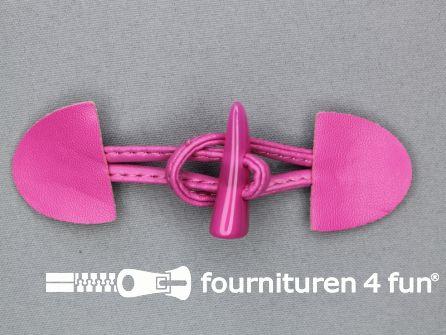 Kinder houtje touwtje 35x110mm fuchsia roze