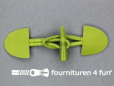 Kinder houtje touwtje 35x110mm lime groen