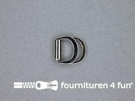Dubbele D-ring 10mm chroom