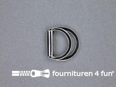 Dubbele D-ring 15mm chroom