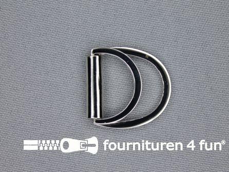 Dubbele D-ring 20mm chroom