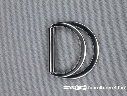 Dubbele D-ring 25mm chroom