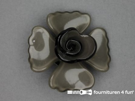 Trendy broche 45mm roos taupe