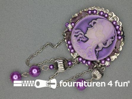 Brocante corsage 50mm lila