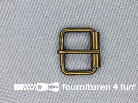 Metalen rolgesp 25mm brons