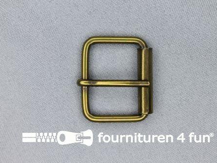Metalen rolgesp 30mm brons
