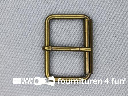 Metalen rolgesp 40mm brons