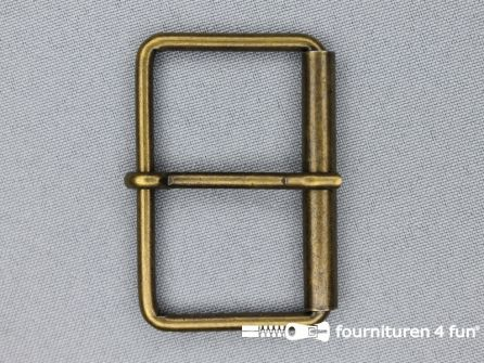 Metalen rolgesp 50mm brons