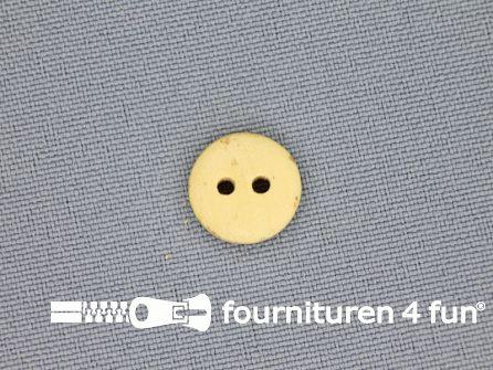 Houten knoop 13mm glad licht