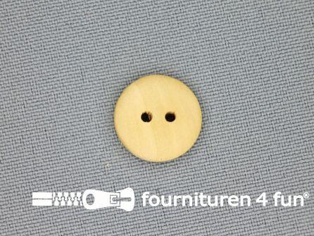 Houten knoop 15mm glad licht