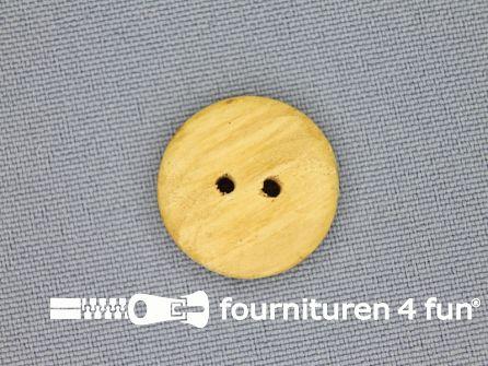 Houten knoop 19mm glad licht