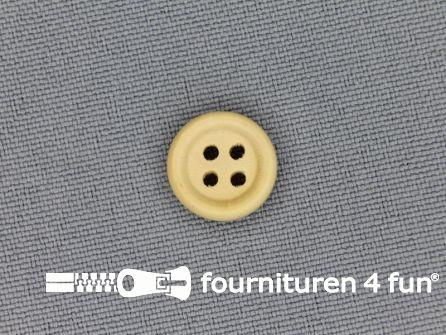 Houten knoop 12mm rand licht