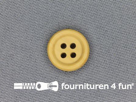 Houten knoop 15mm rand licht