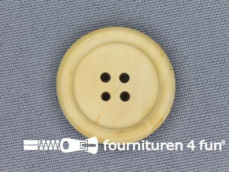 Houten knoop 25mm rand licht