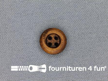 Houten knoop 12mm rand donker