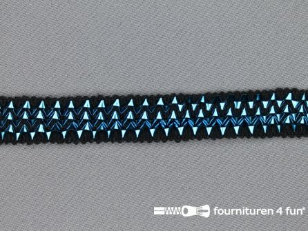 Bling bling band 16mm aqua blauw