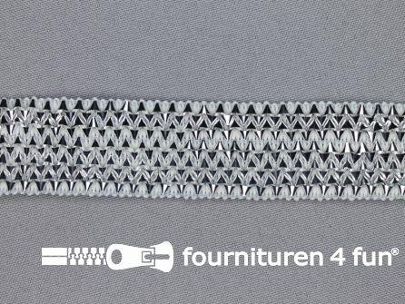 Bling bling band 25mm zilver