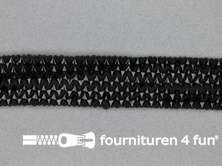 Bling bling band 25mm zwart