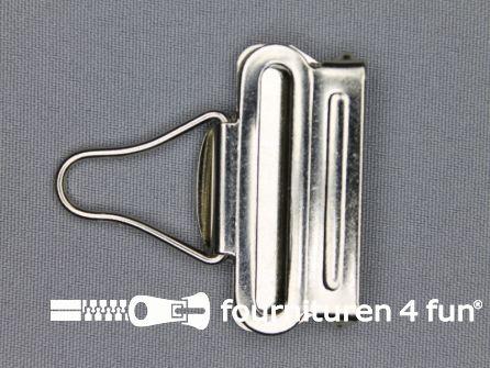 Tuinbroek gesp 40mm zilver - per paar