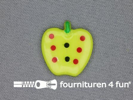 Kinder knoop 21mm appel lime groen
