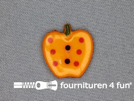 Kinder knoop 21mm appel oranje