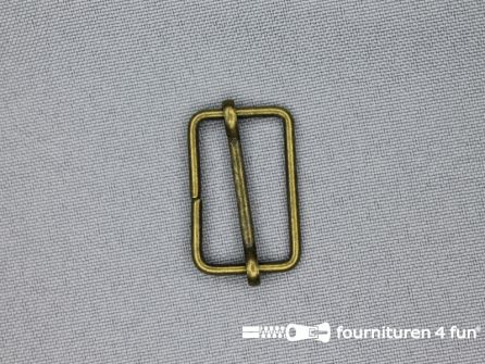 Schuifgesp 25mm brons