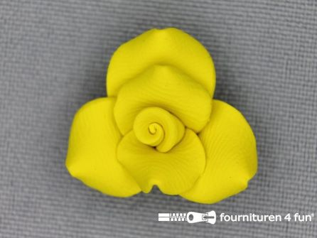 Bloemen knoop 10mm roosje geel