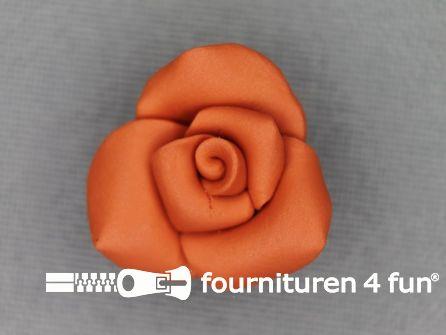 Bloemen knoop 10mm roosje herfst oranje