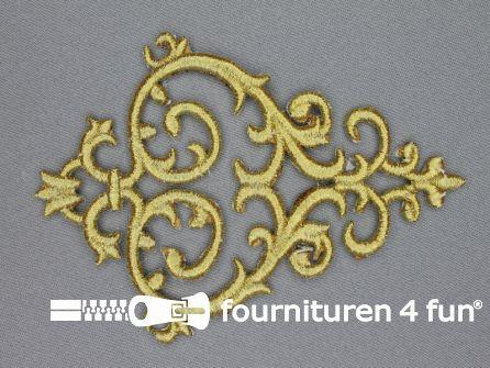 Barok applicatie 100x140mm licht goud