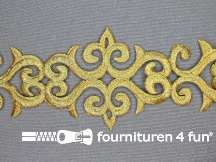 Barok applicatie 80mm goud - per meter