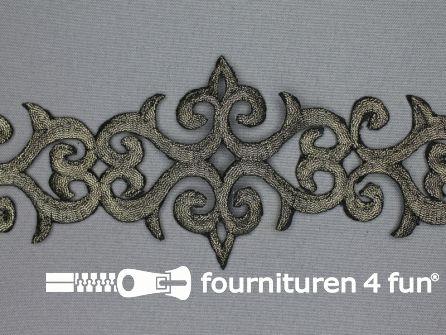 Barok applicatie 80mm goud zwart - per meter