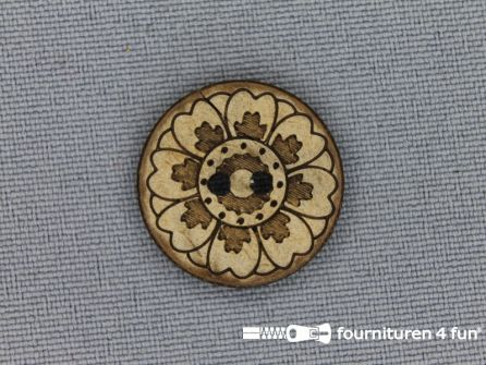 Kokos knoop 20mm bloem