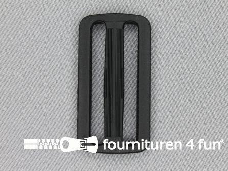 Schuifgesp 50mm zwart kunststof smal