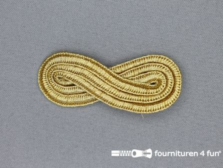 Brandenburger epaulet 25x60mm goud