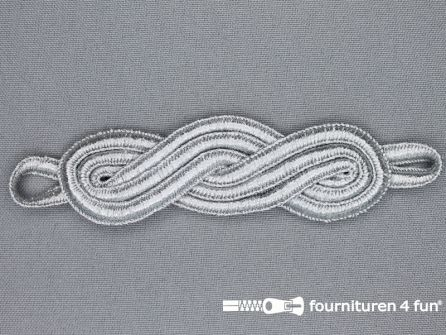 Brandenburger epaulet 25x120mm zilver