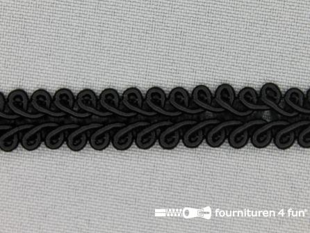 Viscose galon 11mm zwart