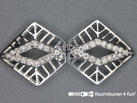 Siersluiting 30x65mm zilver