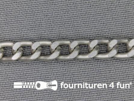 Ketting 6mm antique zilver