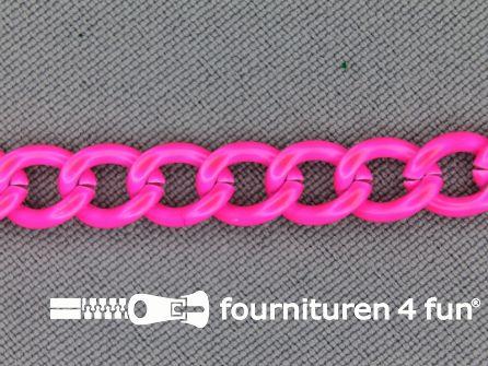 Ketting 7mm neon roze