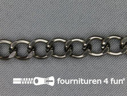 Ketting 7mm donker zilver