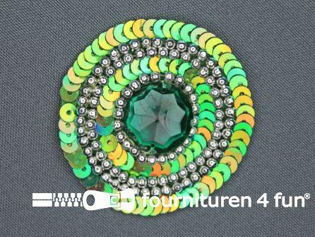 Broche 52mm groen