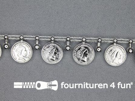 Muntenband 15mm zilver