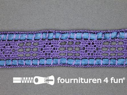 Kloskant 25mm lint lila - jeans blauw