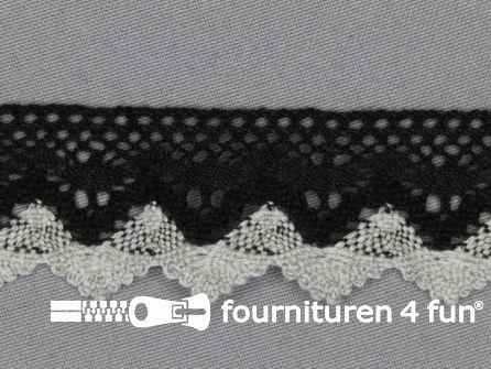 Kloskant 32mm zwart - grijs
